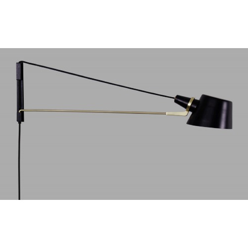 Brendan Ravenhill Pivot Black and Brass Lamp 24