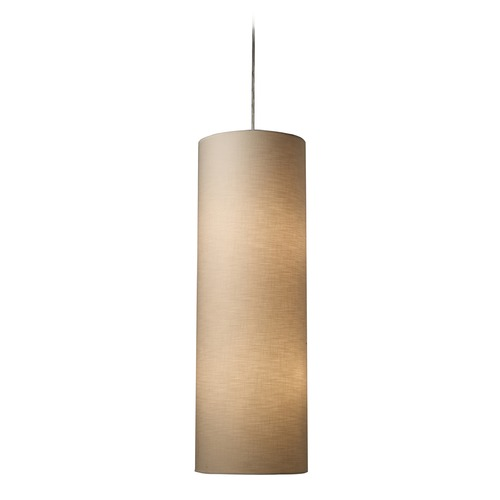 Elk Lighting Elk Lighting Fabric Cylinders Satin Nickel LED Pendant Light with Cylindrical Shade 20160/4-LED