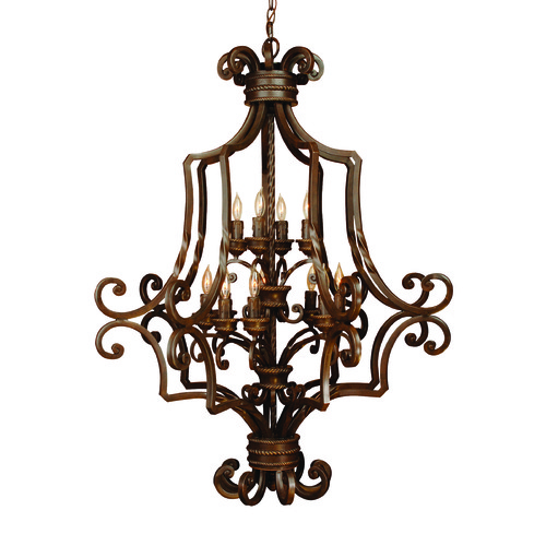 Craftmade Lighting Craftmade Riata Aged Bronze Textured Chandelier 8139AG12