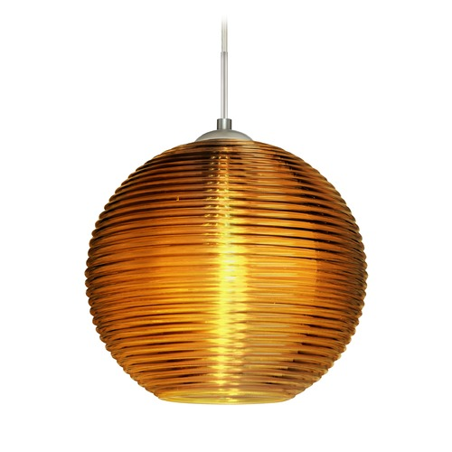 Besa Lighting Besa Lighting Kristall Satin Nickel Pendant Light with Globe Shade 1JT-461682-SN