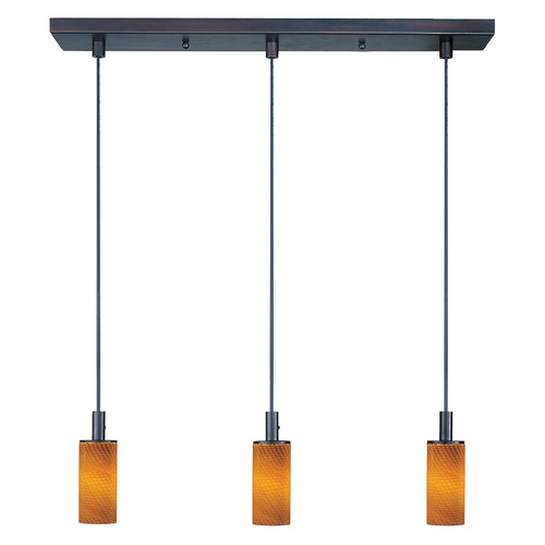 ET2 Lighting Carte Bronze Multi-Light Pendant with Cylindrical Shade E91053-14BZ