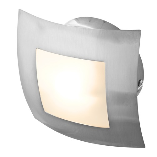 Access Lighting Access Lighting Argon Brushed Steel Sconce 53342-BS/OPL