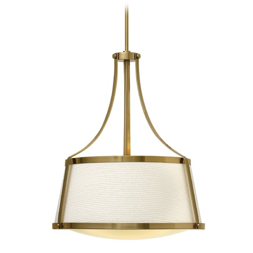 Hinkley Lighting Hinkley Lighting Charlotte Brushed Caramel Pendant Light with Conical Shade 3524BC
