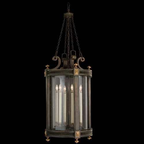 Fine Art Lamps Fine Art Lamps Beekman Place Woodland Brown with Gold Highlights Outdoor Hanging Light 564382ST