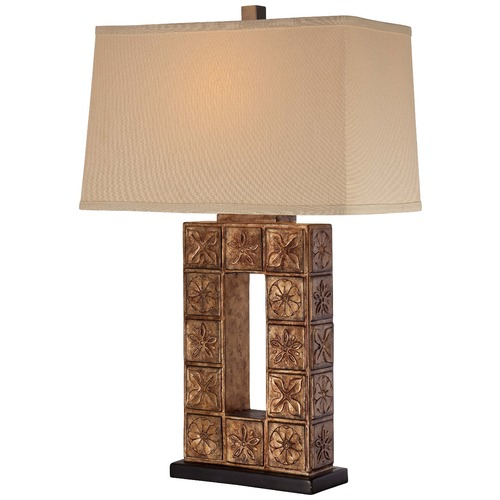 Minka Lighting Minka Bronze Table Lamp with Rectangle Shade 13025-0