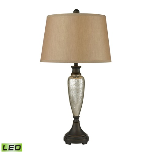 Dimond Lighting Dimond Lighting Antique Mercury, Bronze LED Table Lamp with Empire Shade 113-1142-LED