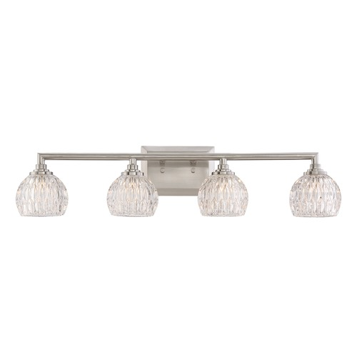 Quoizel Lighting Quoizel Lighting Platinum Collection Serena Brushed Nickel Bathroom Light PCSA8604BNLED