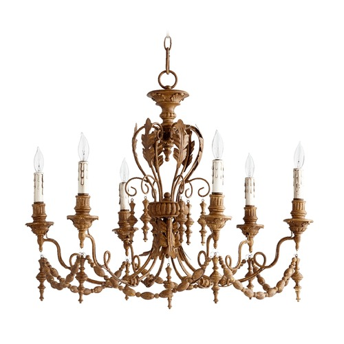 Quorum Lighting Quorum Lighting Salento French Umber Chandelier 6236-6-94