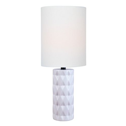 Lite Source Lighting Lite Source Delta White Table Lamp with Cylindrical Shade LS-23202WHT