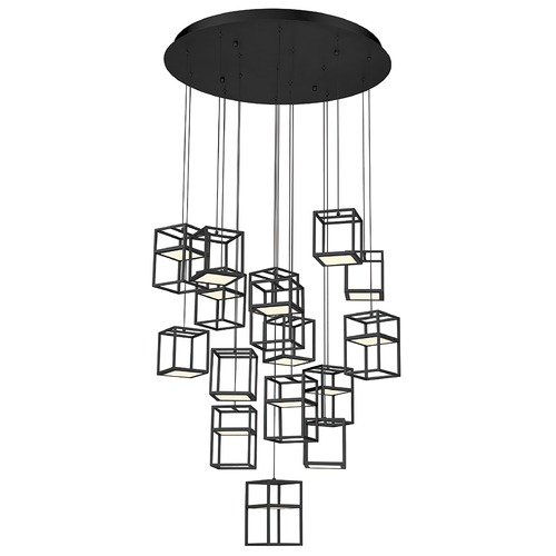 Eurofase Lighting Eurofase Lighting Ferro Black LED Multi-Light Pendant 38259-023