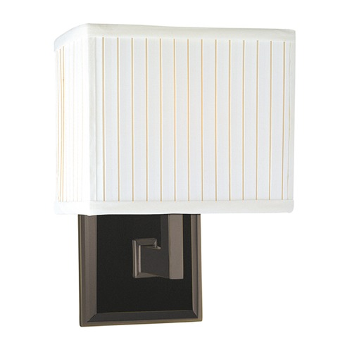 Hudson Valley Lighting Modern Sconce Wall Light with White Shade in Old Bronze Finish 351-OB