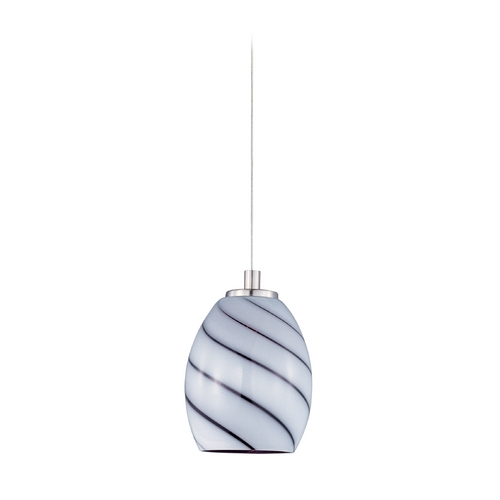 ET2 Lighting Modern Low Voltage Mini-Pendant Light with Multi-Color Glass E94537-108SN