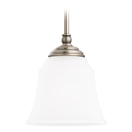 Sea Gull Lighting Mini-Pendant Light with White Glass 61380-965