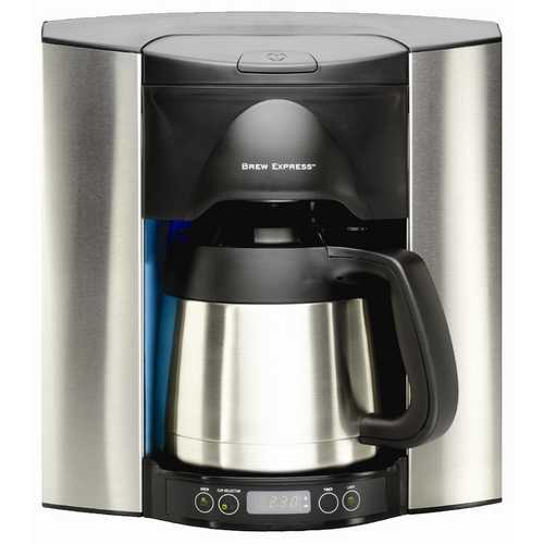 Brew Express Programmable 10 Cup Recessed Coffee Maker BE-110 BS