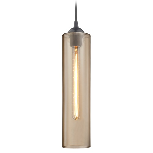 Design Classics Lighting Gala Fuse Matte Black Mini-Pendant Light with Cylindrical Shade 582-07 GL1650C