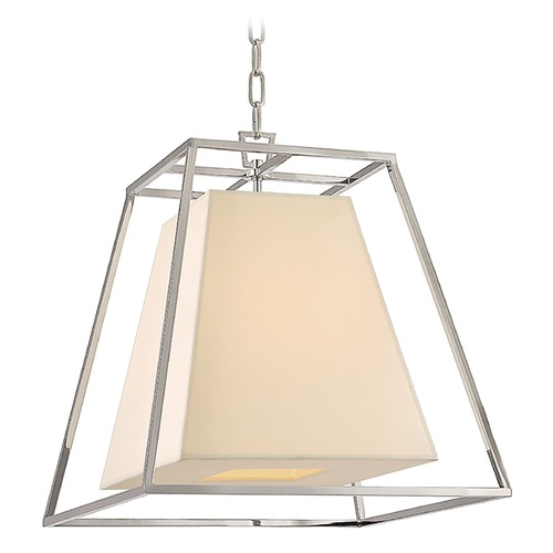 Hudson Valley Lighting Kyle 4 Light Pendant Light Square Shade - Polished Nickel 6917-PN