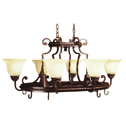 Jeremiah Lighting Jeremiah Riata Aged Bronze Textured Chandelier 8138AG8