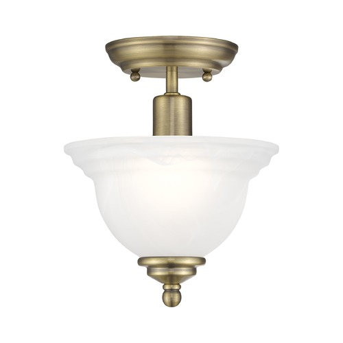 Livex Lighting Livex Lighting North Port Antique Brass Semi-Flushmount Light 4250-01