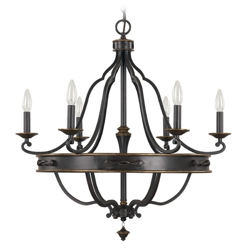 Capital Lighting Capital Lighting Wyatt Surrey Chandelier 4255SY-000