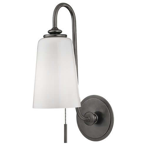 Hudson Valley Lighting Glover 1 Light Switched Pull Chain Sconce - Historic Nickel 9011-HN