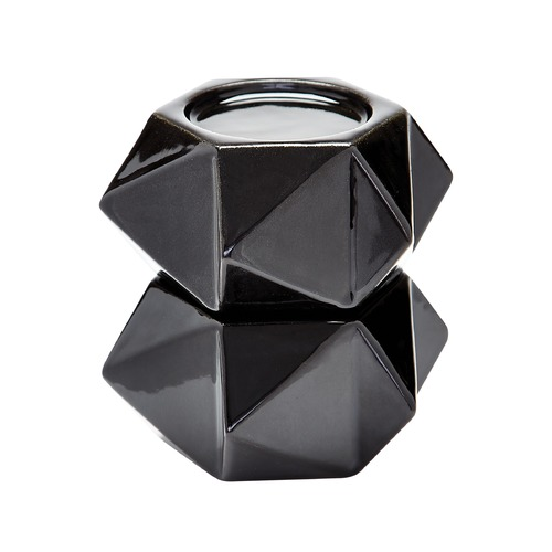 Dimond Lighting Large Ceramic Star Candle Holders - Black. Set Of 2 857126/S2