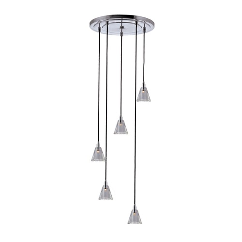 Hudson Valley Lighting Hudson Valley Lighting Naples Polished Chrome Multi-Light Pendant with Conical Shade 3615-PC-B-003