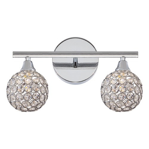 Quoizel Lighting Quoizel Lighting Platinum Collection Shimmer Polished Chrome Bathroom Light PCSR8602CLED