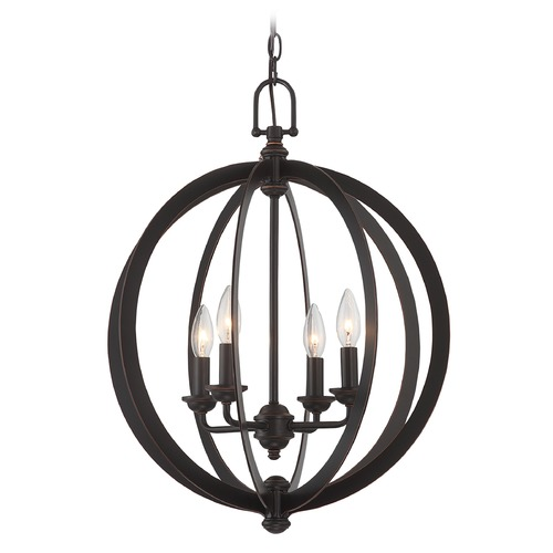 Lite Source Lighting Lite Source Oria Dark Bronze Pendant Light C71357
