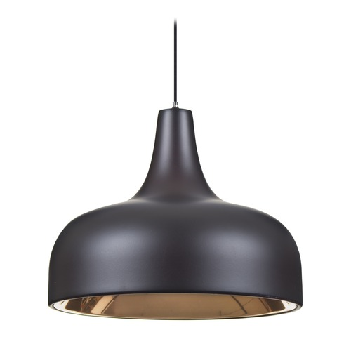 Besa Lighting Besa Lighting Persia Bronze Mini-Pendant Light with Urn Shade 1XT-PERSIA-LED-BR