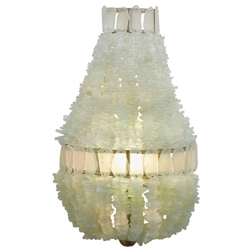 Currey and Company Lighting Currey and Company Zucchero Silver Granello/seaglass Sconce 5000-0013