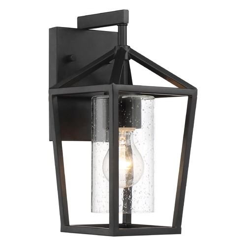 Nuvo Lighting Satco Lighting Hopewell Matte Black Outdoor Wall Light 60/6591