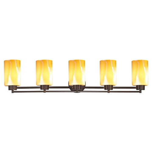 Design Classics Lighting Design Classics Salida Fuse Neuvelle Bronze Bathroom Light with Butterscotch Art Glass 706-220 GL1022C