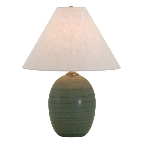 House of Troy Lighting House Of Troy Scatchard Green Matte Table Lamp with Conical Shade GS140-GM