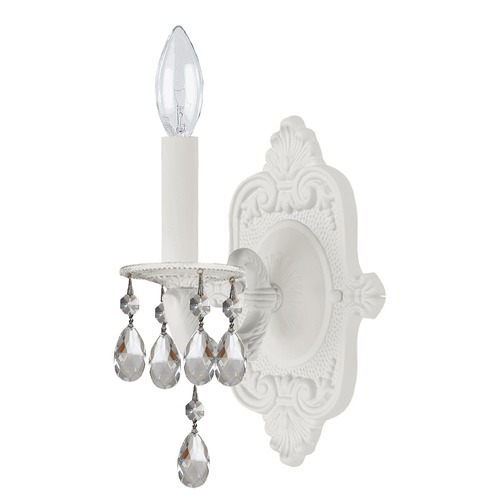 Crystorama Lighting Crystorama Lighting Paris Market Wet White Sconce 5021-WW-CL-S