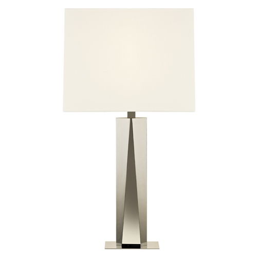 Sonneman Lighting Sonneman Lighting Facet Polished Nickel Table Lamp with Rectangle Shade 6103.35