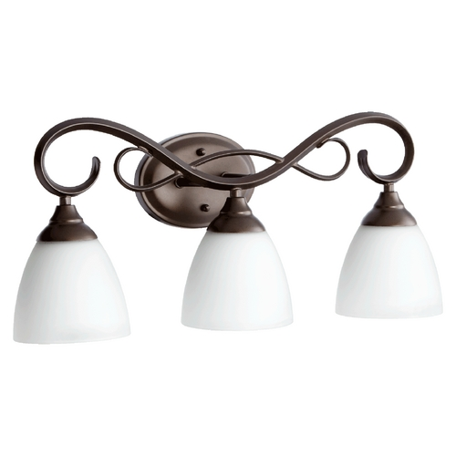 Quorum Lighting Quorum Lighting Powell Oiled Bronze Bathroom Light 5108-3-86