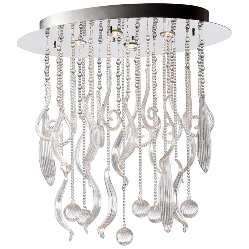 Cyan Design Cyan Design Mirabelle Chrome & Clear Pendant Light 04668