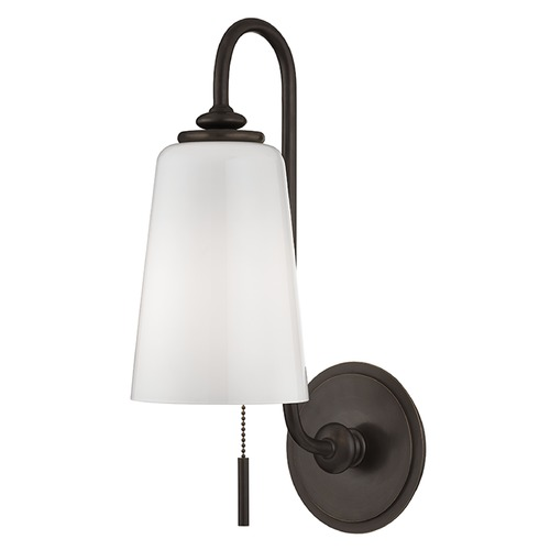 Hudson Valley Lighting Glover 1 Light Switched Pull Chain Sconce - Old Bronze 9011-OB