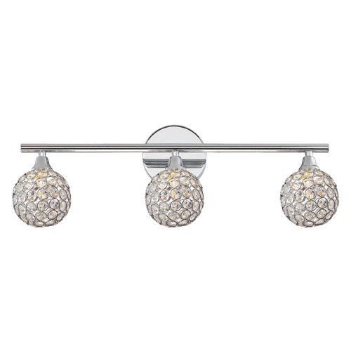 Quoizel Lighting Quoizel Lighting Platinum Collection Shimmer Polished Chrome Bathroom Light PCSR8603CLED