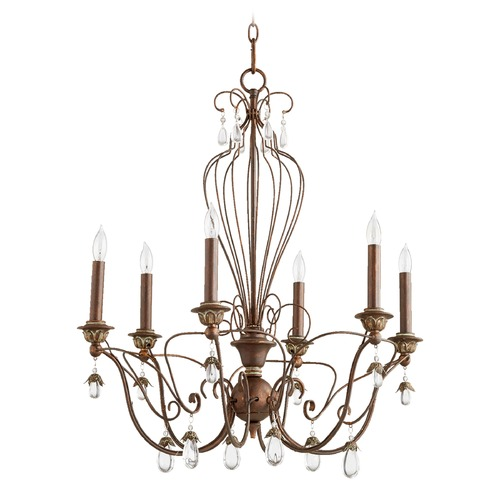 Quorum Lighting Quorum Lighting Venice Vintage Copper Chandelier 6244-6-39