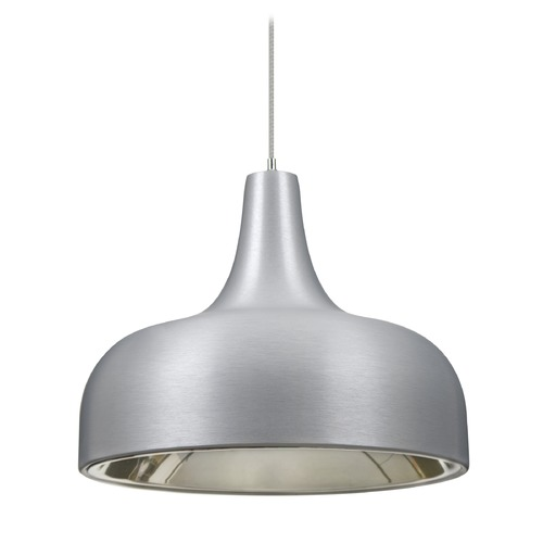 Besa Lighting Besa Lighting Persia Satin Nickel Mini-Pendant Light with Urn Shade 1XT-PERSIA-LED-SN