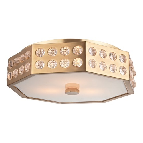 Hudson Valley Lighting Hudson Valley Lighting Hansen Aged Brass Flushmount Light 8868-AGB