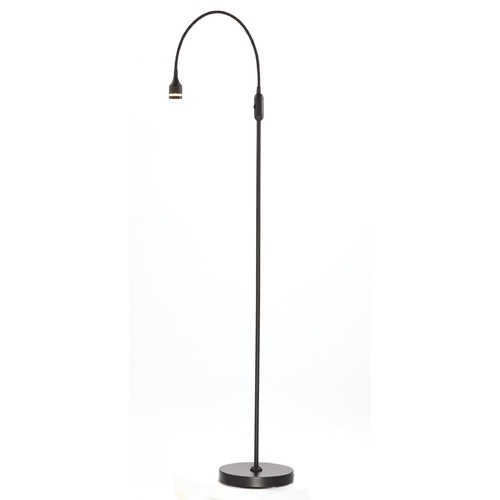 Adesso Home Lighting Adesso Home Prospect Matte Black LED Swing Arm Lamp with Cylindrical Shade 3219-01
