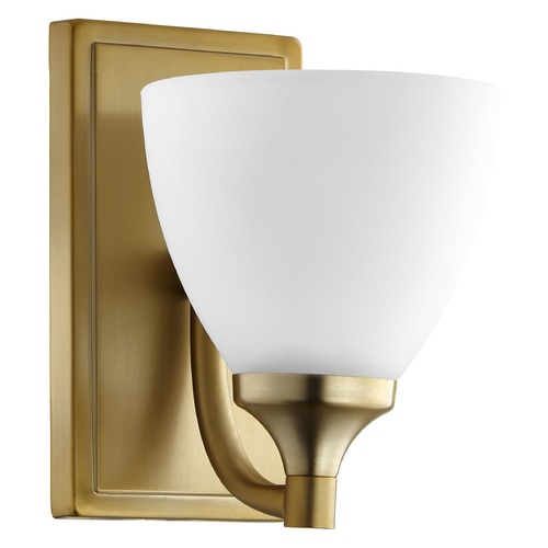 Quorum Lighting Quorum Lighting Enclave Aged Brass Sconce 5459-1-80