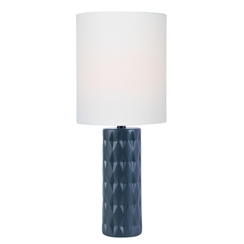Lite Source Lighting Lite Source Delta Jet Black Table Lamp with Cylindrical Shade LS-23203JBLK