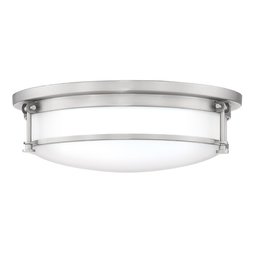 Quoizel Lighting Antique Nickel 3-Light Flushmount Light with Etched Shade SLR1616AN