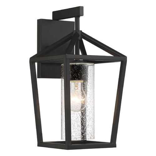 Nuvo Lighting Satco Lighting Hopewell Matte Black Outdoor Wall Light 60/6592