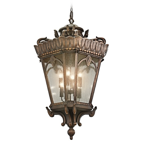 Kichler Lighting Kichler Outdoor Hanging Light with Clear Glass in Londonderry Finish 9568LD