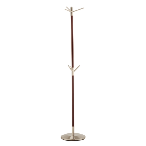 Adesso Home Lighting Adesso Home Lighting Neptune Walnut/steel Coat Racks & Hook WK2025-15
