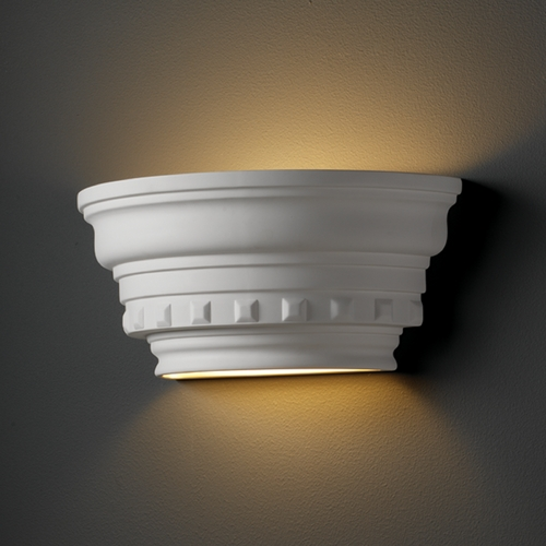 Justice Design Group Sconce Wall Light in Bisque Finish CER-9805-BIS